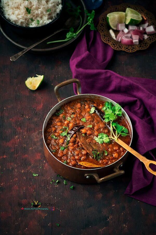 punjabi chana masala chickpeas curry binjal s veg kitchen