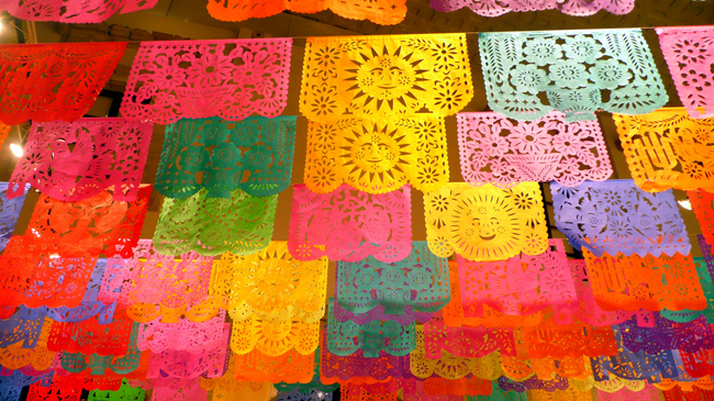 Papel picado perforated paper is a decorative craft made out of papel picado i feel like its absolutely necessary for us to hang some dia de los muertos art in our house its already written all over mitchs body mightylinksfo