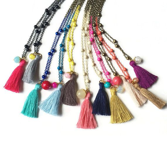 Tassel Necklaces  Little Girl Tassel Necklaces