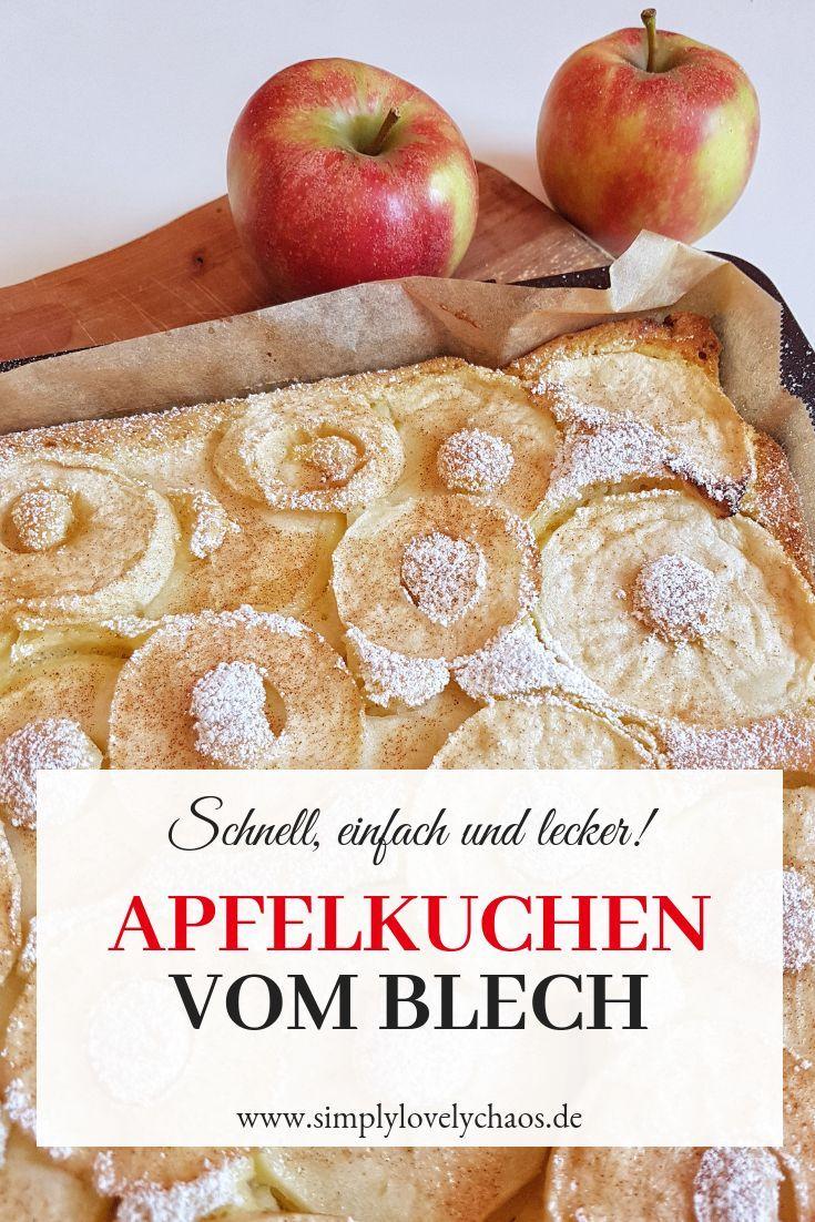 Einfacher Apfelkuchen vom Blech - Familienrezept - SIMPLYLOVELYCHAOS