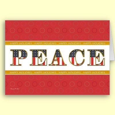 Us patriotic peace happy holidays greeting card holiday peace us patriotic peace happy holidays greeting card m4hsunfo