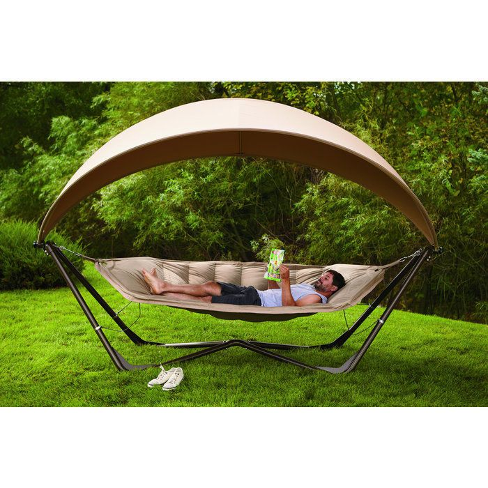 Amazing Large Hammock Canopy Poolside Furniture Big Boy Toys Gifts 400 Lb Sturdy  Stand #Unbranded
