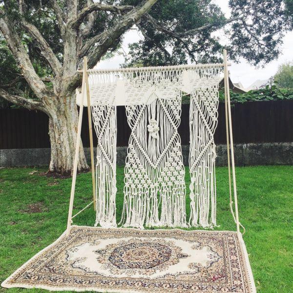 Gumtree Wedding Decoration: Macrame Wedding Backdrop Hire