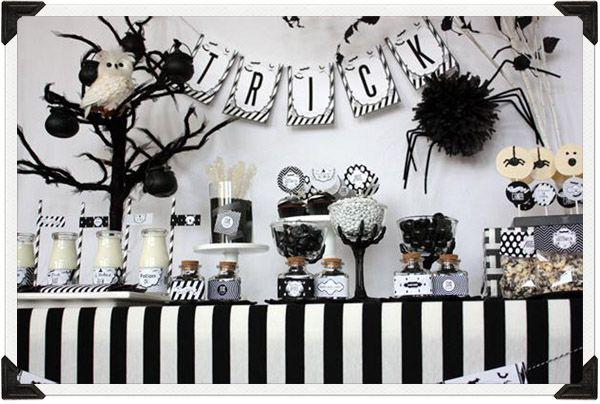 Halloween dessert table October 31 Ideas Pinterest Black white - halloween dance ideas