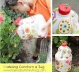 Decorating plastic jugs to water plants -- #sensiblerecycling #plasticjugs Decorating plastic jugs to water plants -- #sensiblerecycling #plasticjugs