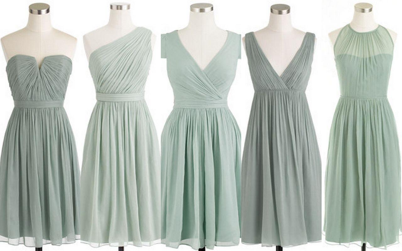 Style Inspiration And Design Grayed Jade Bridesmaid Dress Www Styleinspirationanddesign