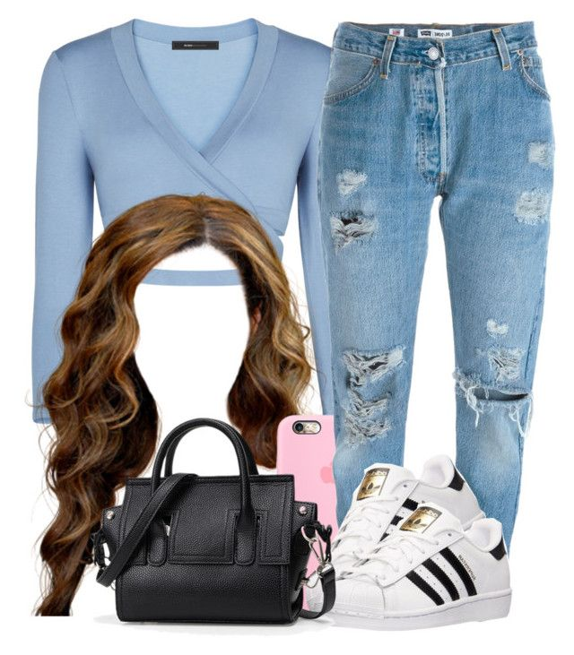 """Sans titre #1"" by naomi200 ❤ liked on Polyvore featuring BCBGMAXAZRIA, Levi's and adidas"
