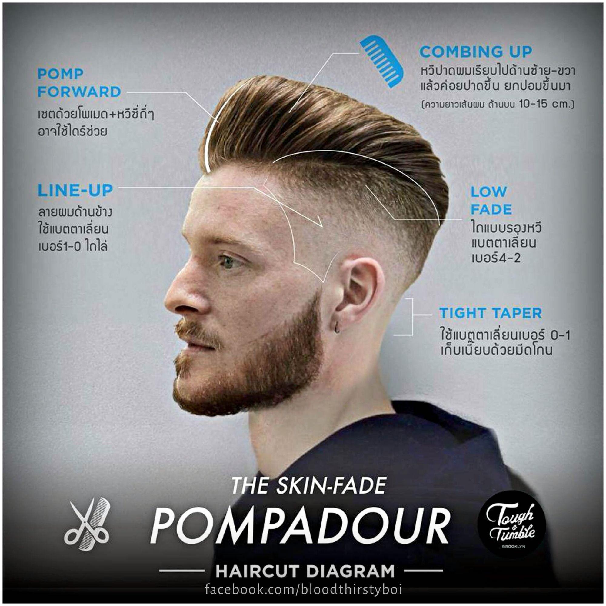 razor skin fade pompadour hair pinterest skin fade