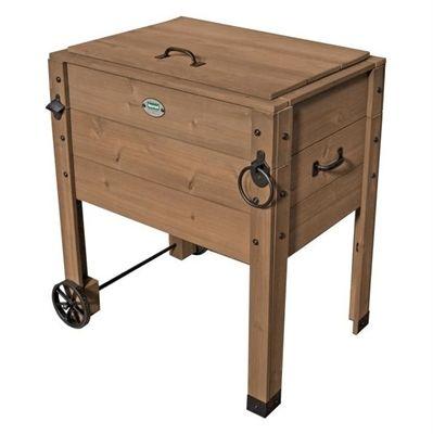 Cornerstone Outdoor Cooler Lowes Rolling Wooden Wooden
