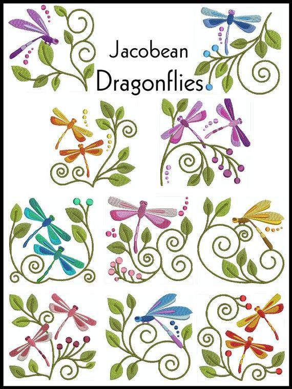 dragonflies | Libélulas | Pinterest | Bordado, Libélulas y Bordados ...