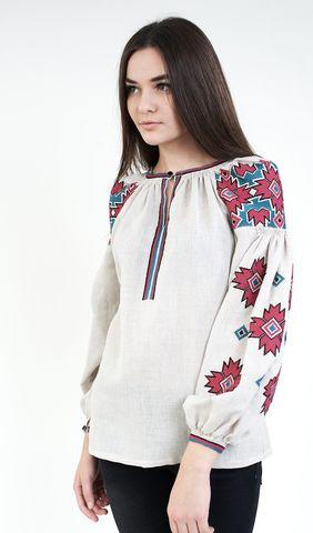 Вишиванка жіноча на льоні з геометричною вишивкою арт. 267-16 08 купити в  Україні і Києві - відгуки dc5a915281f0d