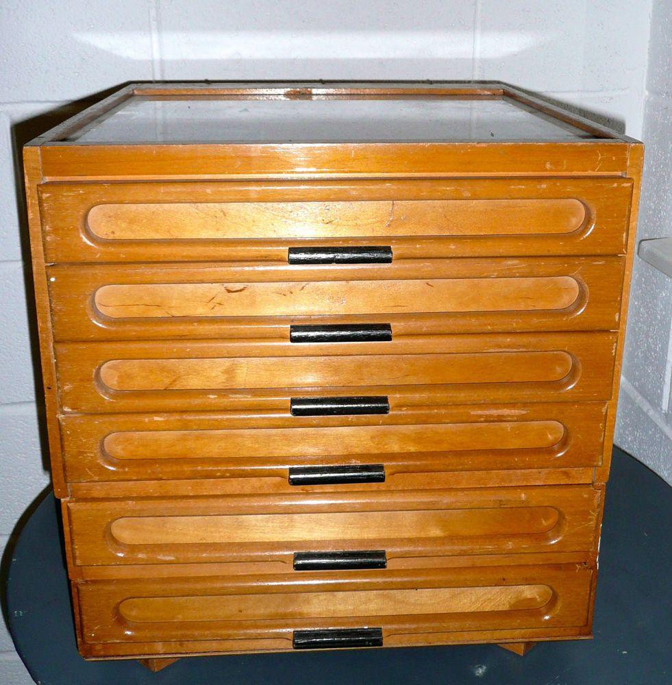 Dmc Thread Cabinet Set Of Vintage Haberdasher Drawers Cotton Reels Bobbins Needles