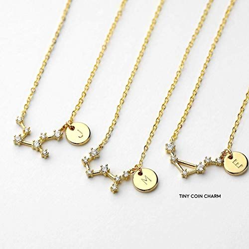 49aa31191 Amazon.com: Zodiac Jewelry Constellation Star Necklace Leo Virgo Birthday  Gift Sorority Gift for Women Bridesmaid Necklace Christmas gift Graduation  Gift ...