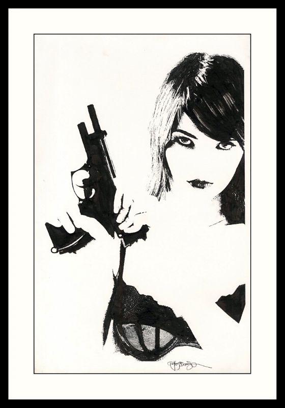 FOR SALE - Sexy Girl Tim Bradstreet's Cover Comic Art