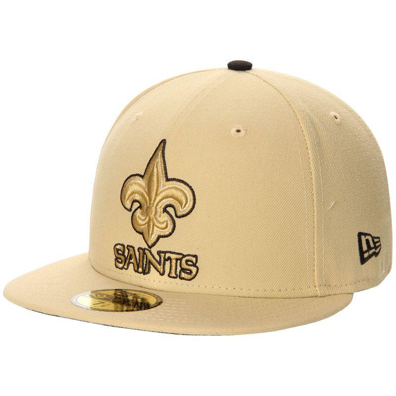 sale retailer e294c 38425 New Orleans Saints New Era Pop Flip 59FIFTY Fitted Hat - Gold