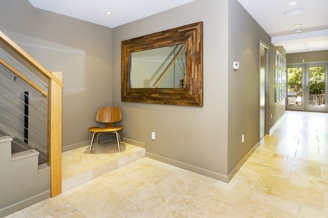 Paint Walls And Baseboard Same Color Contemporary Entry By Amoroso Design