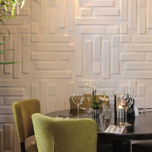 Bricks design  wallart white wallpaper  square also rh pinterest