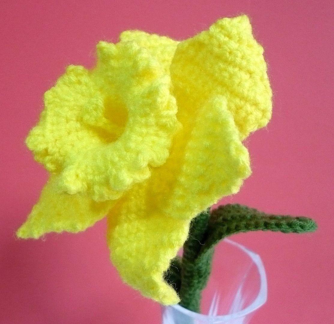 Image Detail For Flower Crochet Pattern Daffodil Crochet Pattern
