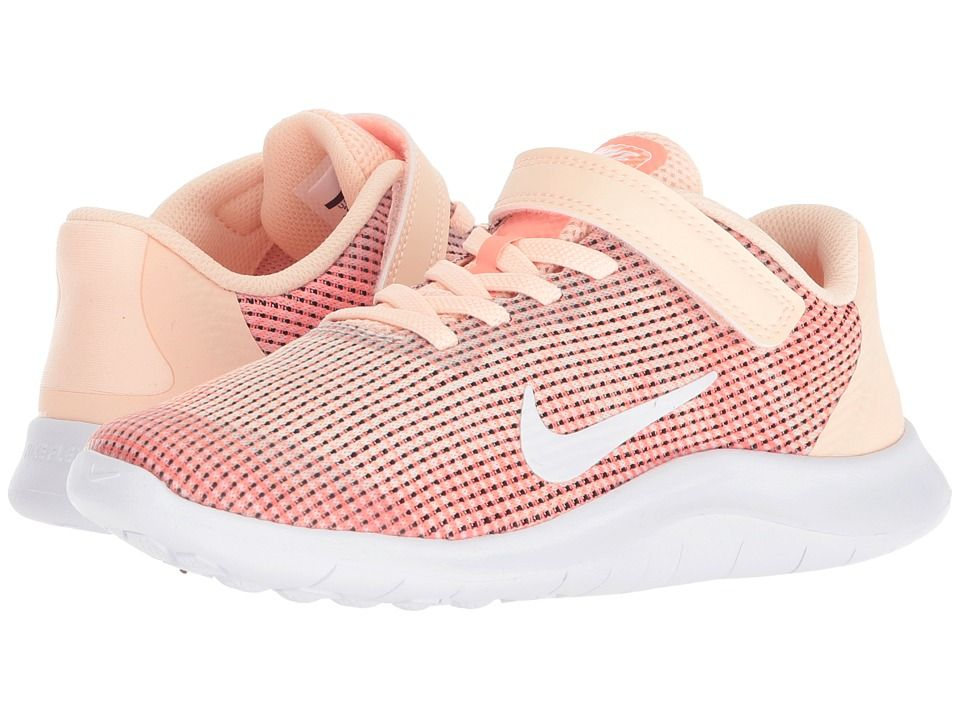 0508207c8edfa Nike Kids Flex Run 2018 (Little Kid) (Crimson Tint White Crimson Pulse)  Girls Shoes