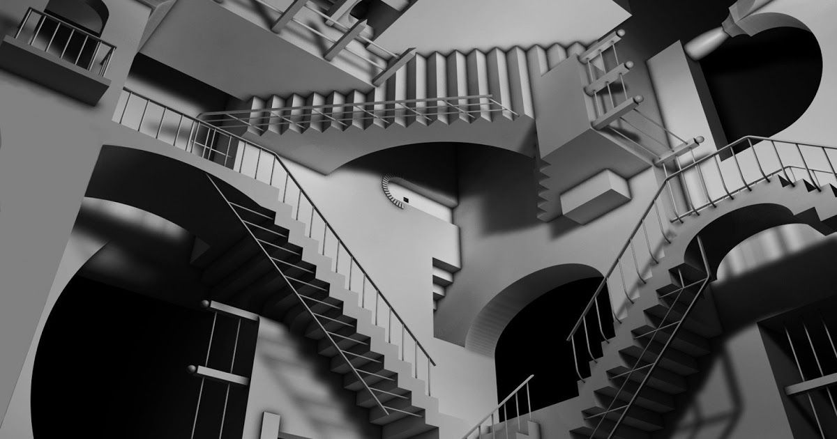Amazing Never Ending Stairs Optical Illusion In 2020 Optical