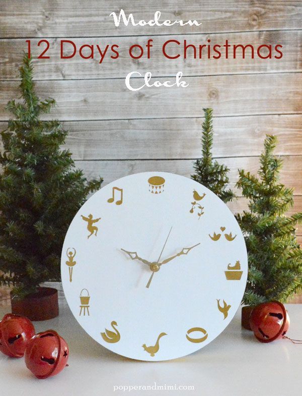 Loading Christmas Clock Twelve Days Of Christmas Holiday Paper