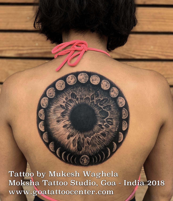 Universal Eye Tattoo Done By Mukesh Waghela At Moksha Tattoo