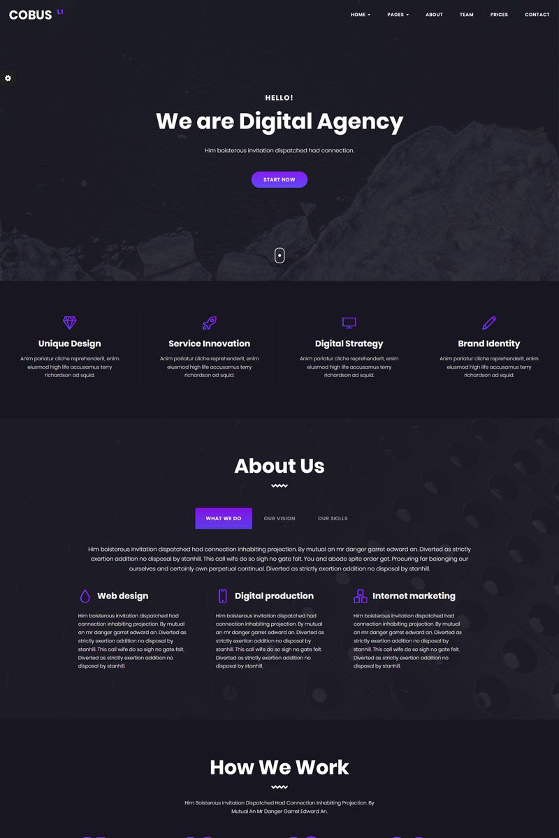 Cobus  Creative Digital Agency Website Template 68900 is part of Corporate website design, Agency website, Digital agencies, Agency website design, Creative agency website, Website - Cobus is a carefully crafted flexible and high performance multipage HTML template for personal and corporate use  Cobus has professional, pixel perfect and