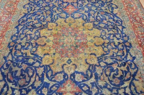 #Antiques #Gifts 7'5x11'10 Authentic 1930s Antique Persian Isfahan Estate Handmade Wool Area Rug #Collectors