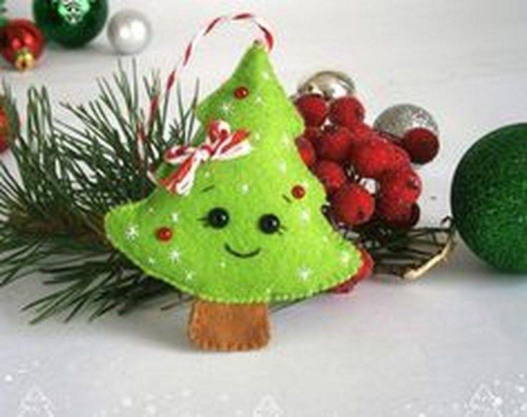 39 Brilliant Ideas How To Use Felt Ornaments For Christmas Tree ...