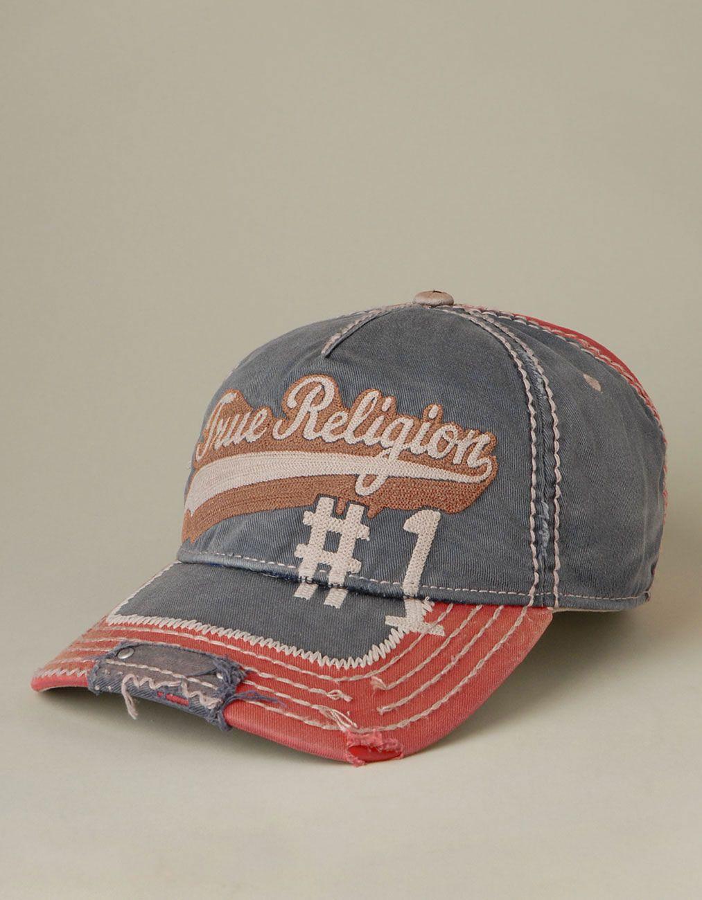Mens True Religion Script Logo Baseball Cap - (Navy)  777f7c8b97c0