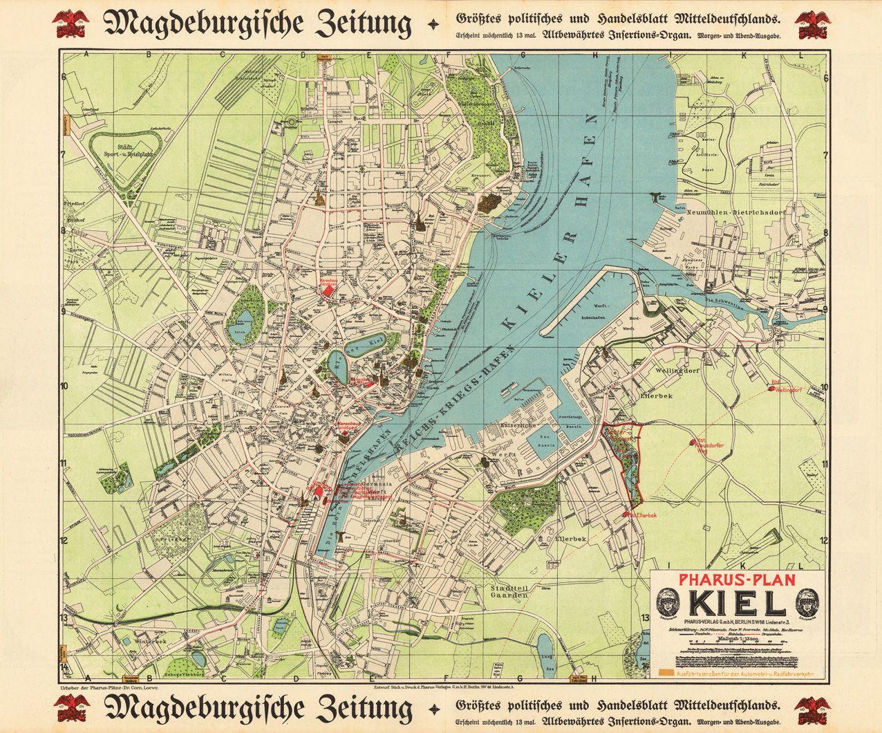 Pharus Verlag 1910 Kiel German Opa Kiel 1910er Reisen
