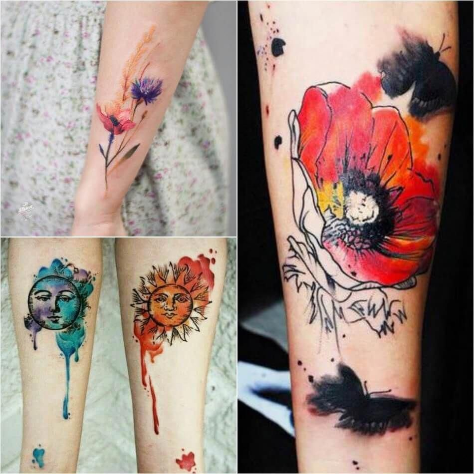 Women Who Prefer Big Colorful Tattoos Can Also Get Them In Using The Watercolor Technique Bright R Tattoo Designs Tattoo Techniques Watercolor Abstract Tattoo