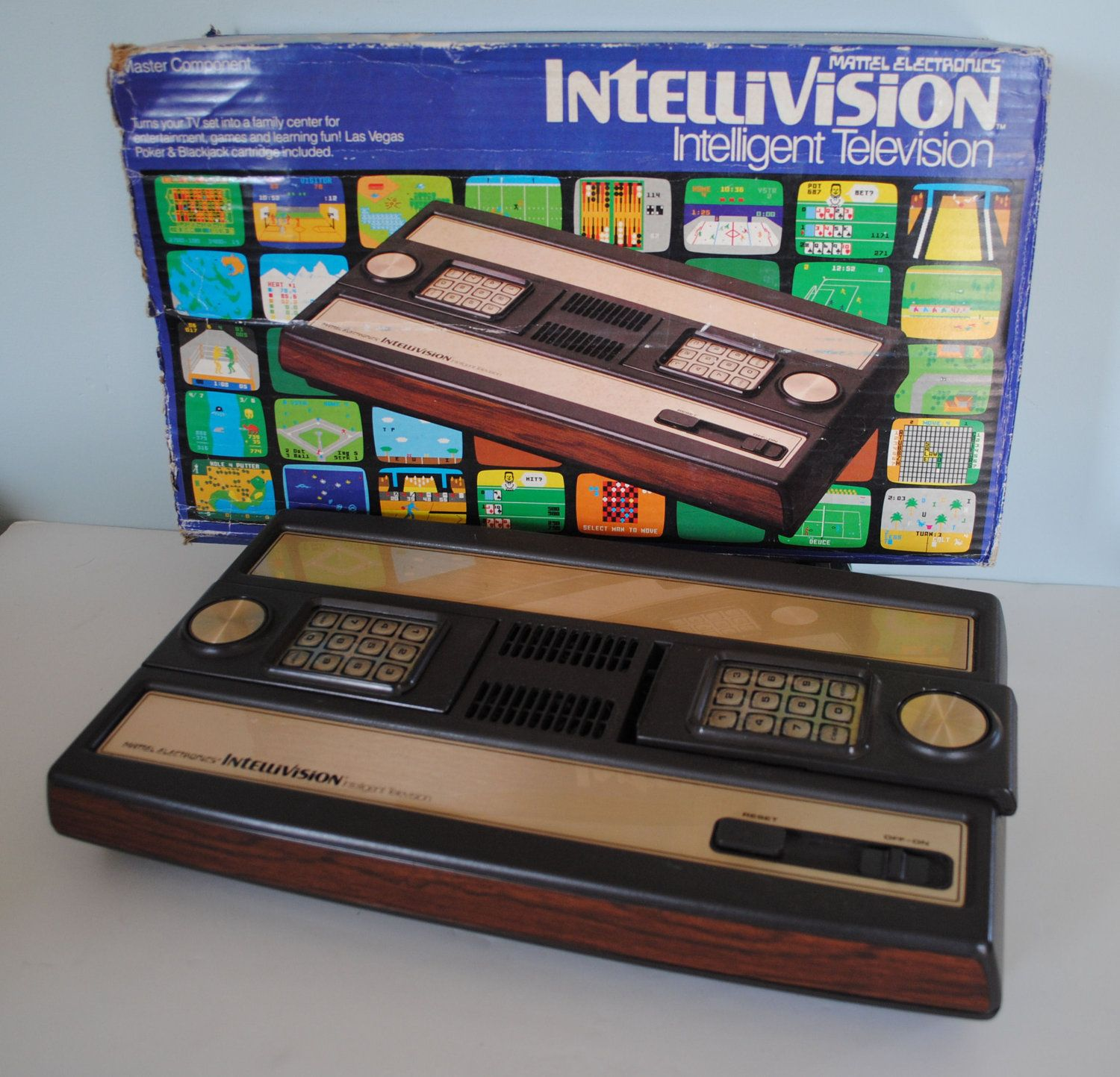 Intellivision Console With Original Box And 11 Boxed Games Classic Video Games Games Vintage Games
