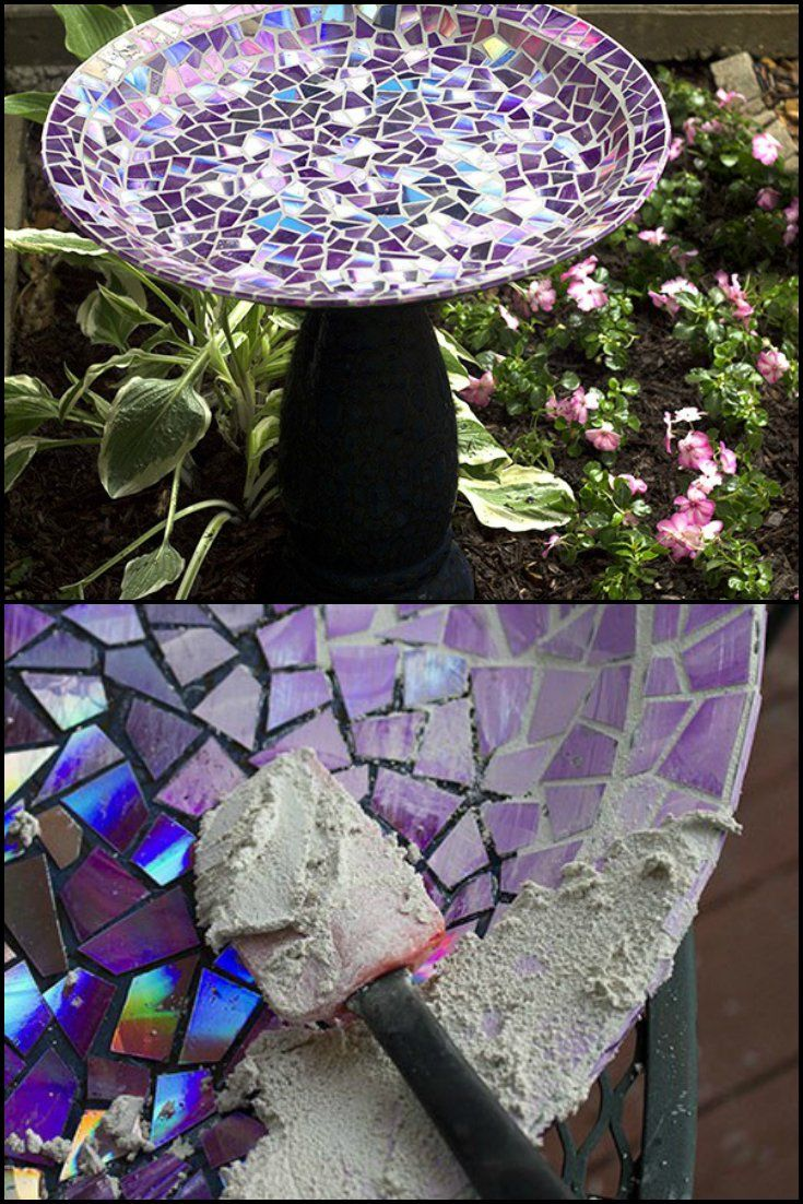 attract wildlife to your garden by making this mosaic bird bath