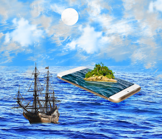 3D Phone Effect Ocean Manipulation Photo In Photoshop CC