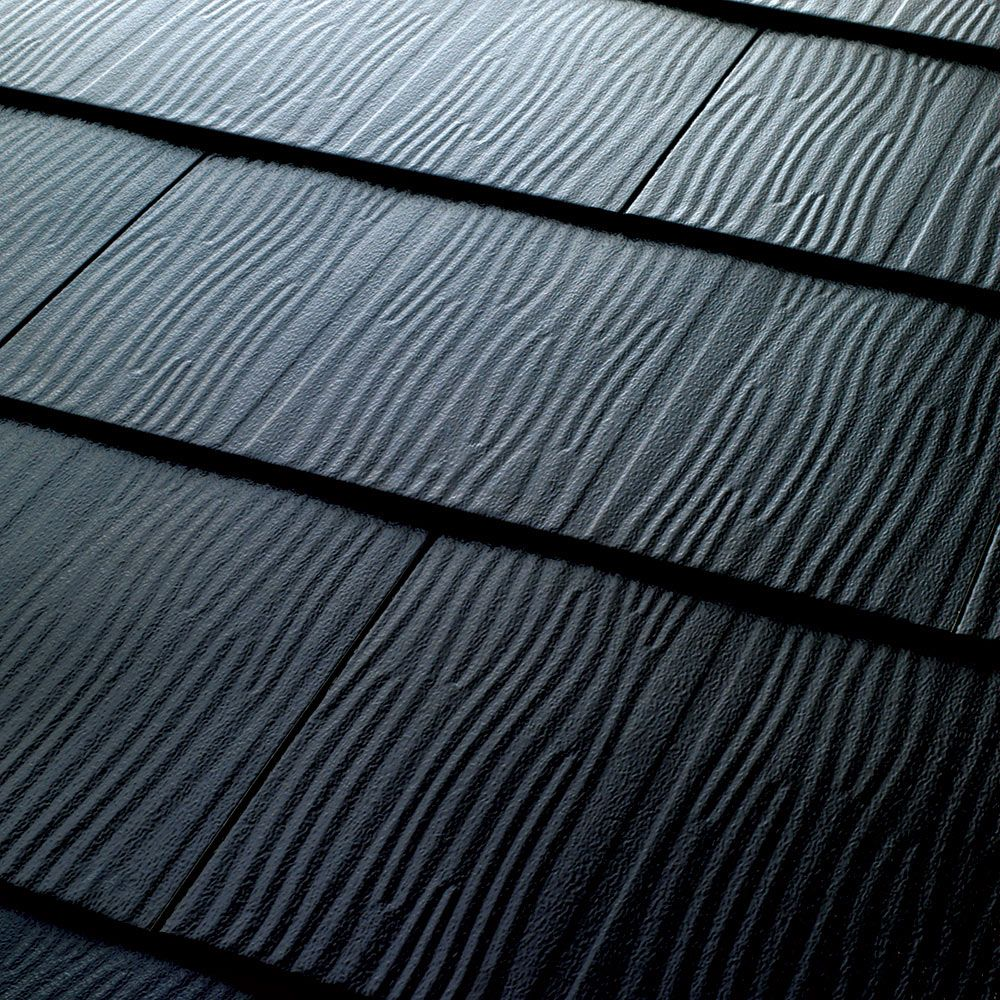 Metal Roofing Embossed Shingles Collection Black 28