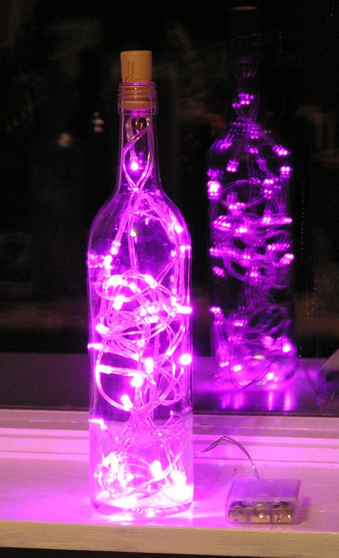 pink wine bottle centerpieces - Google Search | Events | Pinterest