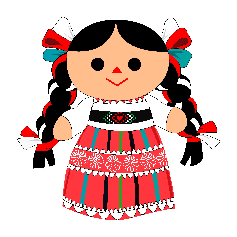 Diseno Bonito Y Tradicional Mexicano Frida Kahlo Caricatura Munecas De Trapo Mexicanas Munecas Mexicanas