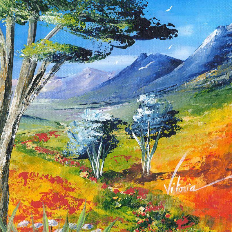Cet Ete En Montagne Peinture Moderne Peinture Acrylique