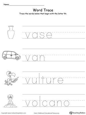 Early Childhood Alphabet Worksheets | Hojas de trabajo del alfabeto ...