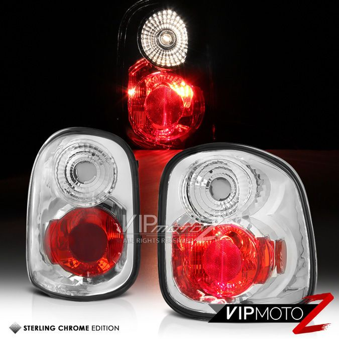 97-03 Ford F150 F-150 Flareside Pickup Clear Tail Lights Rear Brake Lamps Pair