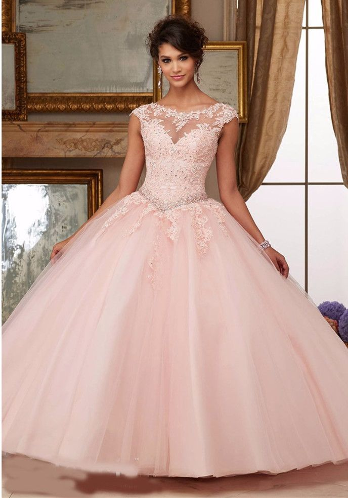 Vestidos de XV color rosa palo | Quince dresses, Casual office and ...
