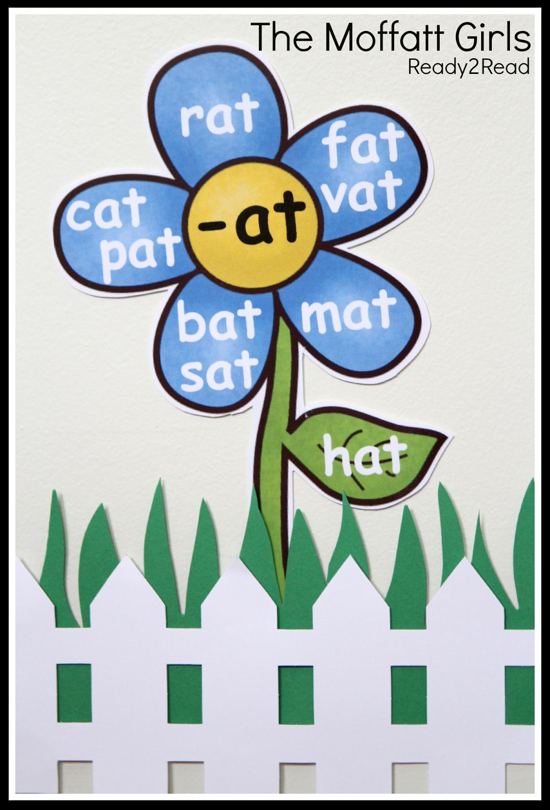 Word Family Garden Plant A Garden Of Words To Help Build