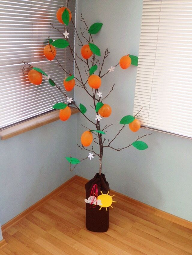 Portakal Ağacım Turuncu Balonlardan Portakal Ağacı Sanat