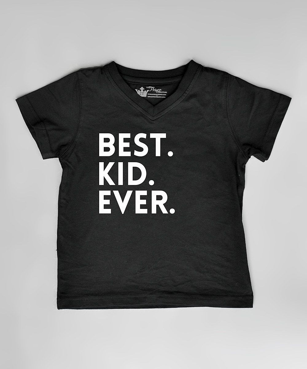 Black t shirt for toddler - Littlest Prince Couture Black Best Kid Ever Tee Infant Toddler Boys