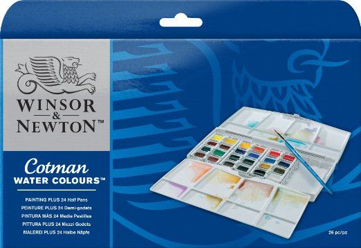 Winsor Newton Cotman Painting Plus Water Colour Half Pan Pack