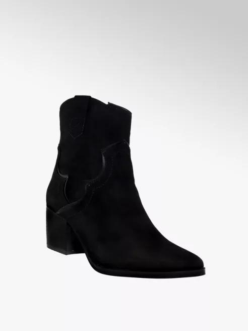 Czarne Botki Damskie Catwalk Typu Kowbojki Deichmann Com Shoes Boots Ankle Boot