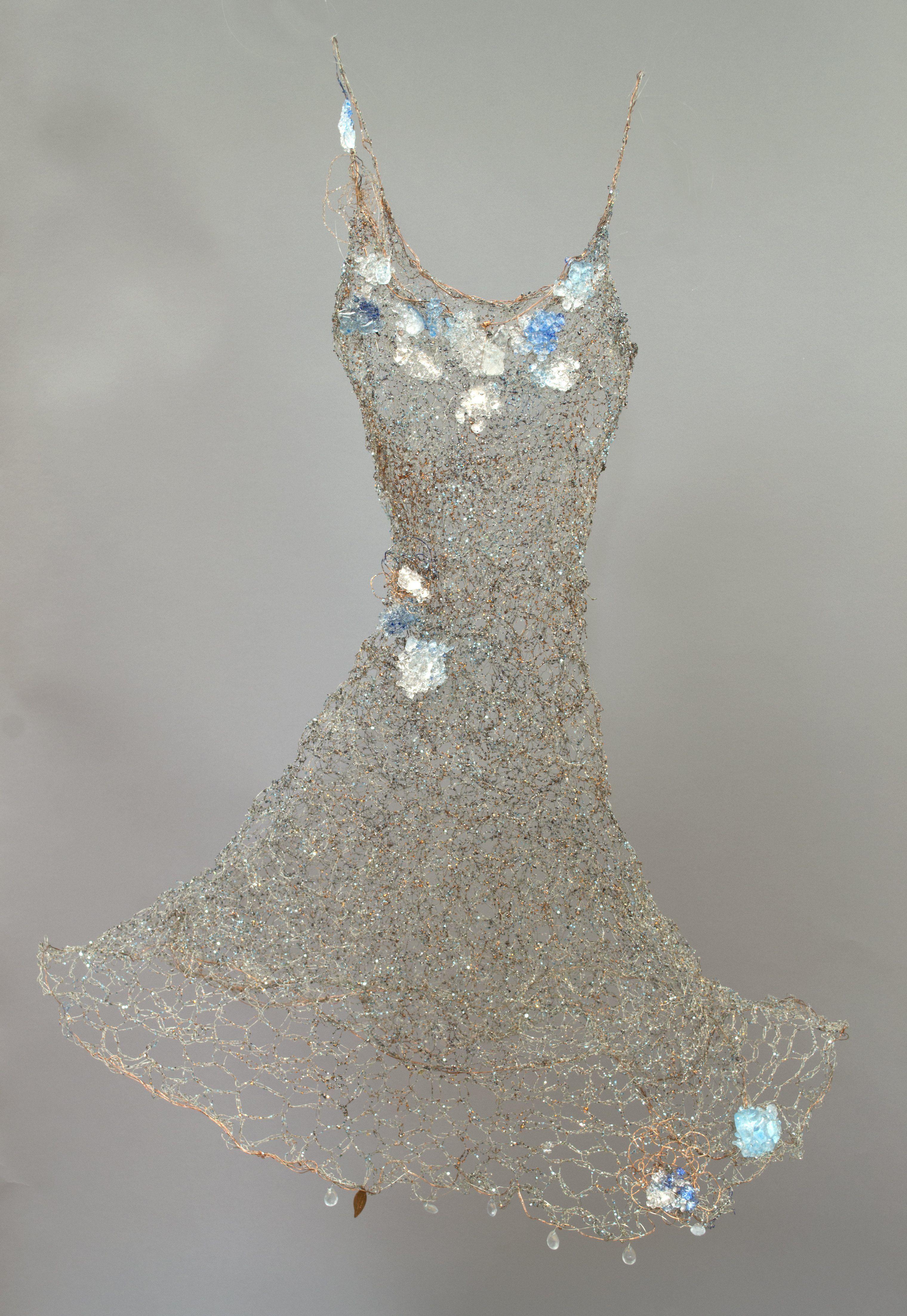 Hyacinth Mare (Blue Ocean) | Art dress, Blue ocean, Paper dress