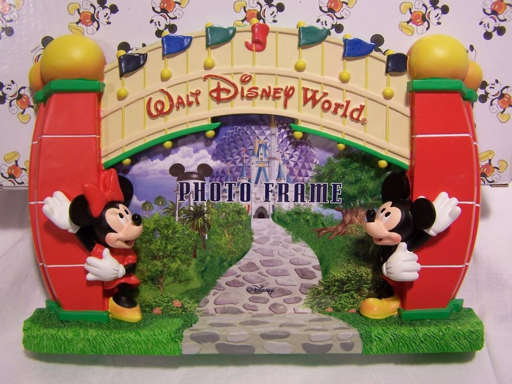 Walt Disney World Minnie Mickey Mouse Entrance Picture Frame ...