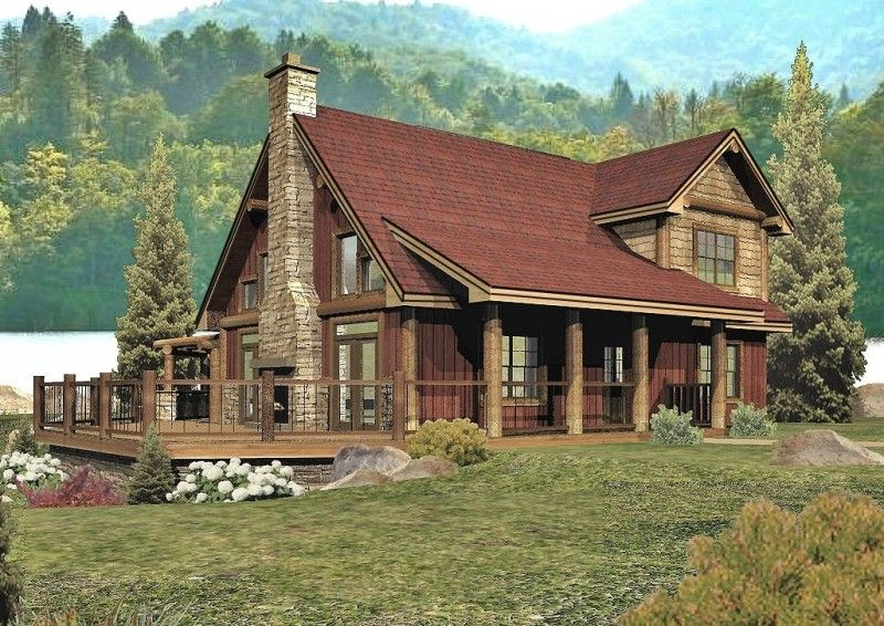 Tahoe crest log homes cabins and log home floor plans for Ranch style timber frame homes
